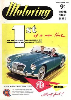 1950s Uk Cars Mg Convertibles Print By The Advertising Archives