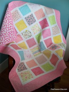 Baby girl quilt-pretty in pink