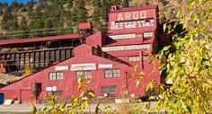 The big red historic Gold Mine in Idaho Springs, CO