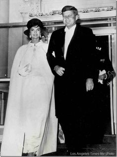 President John F. Kennedy and First Lady Jacqueline Kennedy leave the White House to attend the Inaugural Ball ~ 20th Jan., 1961