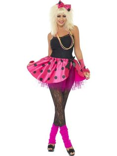Ladies Tutu Kit Pink 80's Fancy Dress | eBay