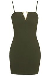 TOPSHOP - **Hardware Plunge Dress by Rare