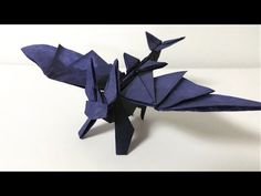 【折り紙】 ドラゴンを折ってみた - YouTube. Origami how to train your dragon Toothless.