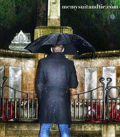 #black #coat #umbrella #rain #memysuitandtie #remembrance #respect http://www.memysuitandtie.com/