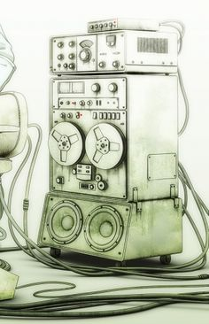 nicely done sound system drawing. #musicart http://www.pinterest.com/TheHitman14/music-drawn-%2B/