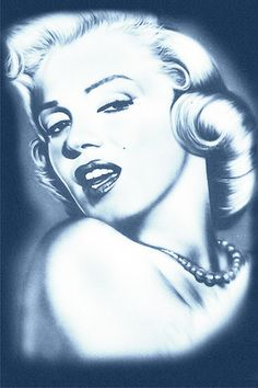 Marilyn Monroe Laser Print Denim Poster by DenimArts on Etsy, $16.50
