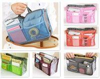 Handbag Purse Dual Organizer Insert phone cosmetic Storage Nylon Bag in Bag For Eight colours Cosmetic Storage, Bag Storage, Cosmetic Bag, Bag In Bag, Pouch Bag, Make Up Organizer, Bag Women, Bags Online Shopping, Handbag Organization