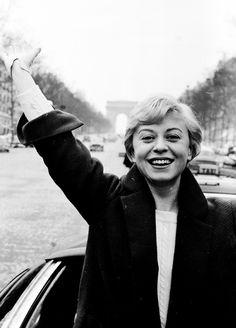 Giulietta Masina in Paris, 1956