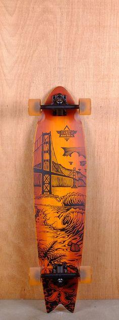 """Dusters Prebuilt 36"""" Golden Longboard"""