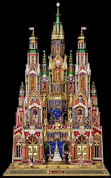 Kraków szopka and where they have Nativity building contests and inspired by St. Mary's Basilica, Kraków, Poland
