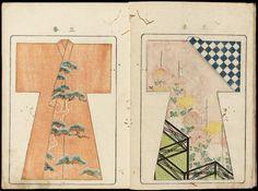 Japanese Textiles, Japanese Patterns, Japanese Design, Japanese Kimono, Japanese Art, Textile Patterns, Textile Design, Kimono Pattern, Painted Clothes