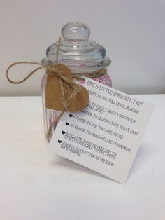 Life's emergency kits from Rosie's! Emergency Kits, Craft Shop, Cute Gifts, Place Card Holders, Cards, Handmade, Design, Beautiful Gifts, Hand Made