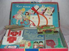 "Vintage ""Little Play Nurse"" Doll or Child's Kit"
