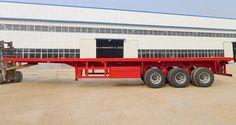 照片:tri axle 40ft flatbed container trailer_01