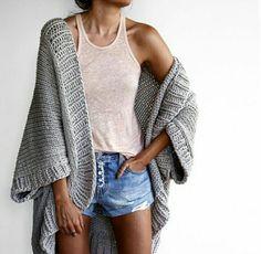 gray sweater cape