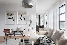 Beautiful Penthouse by Oscar Properties in Stockholm - Nordic Design Interior Inspiration, Room Inspiration, Oscar Properties, Appartement Design, Build A Closet, Furniture Placement, Living Room Interior, Interiores Design, Decoration