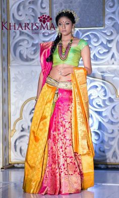 Step by step How to wear a Half Saree like a Lehenga in 7 Different Ways. Complete video & step by step tutorial for half saree lehenga style draping. Half Saree Lehenga, Lehenga Style, Anarkali, Saree Wearing Styles, Saree Styles, Indian Attire, Indian Ethnic Wear, Pakistani Outfits, Indian Outfits