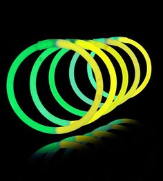 8 inch glowstick bracelets bi color yellowgreen save 10 glow stick