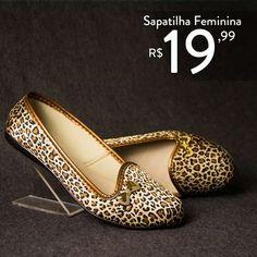 Sapatilha Feminina de 40,00 por apenas R$19,99 COMPRE ONLINE!