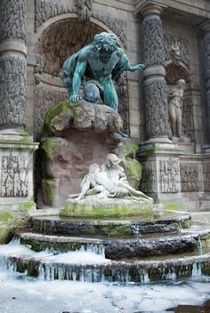 Jardin en Hiver-1 by LightHart, via Flickr (Acis and Galatea Fountain, Jardin du Luxembourg)