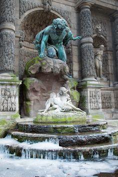 Jardin en Hiver-1 by LightHart, via Flickr (Acis and Galatea Fountain, Jardin du Luxembourg)