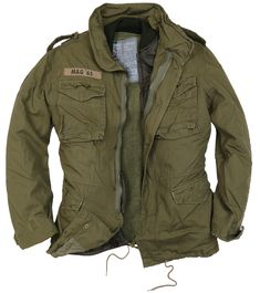 Introducing the Infantry Jacket - the classic jacket with a vintage twist. Wear with the liner for a warm winter coat; wear without the liner for a l. Military Style Jackets, Military Jacket, Vintage Leather Motorcycle Jacket, Military Fashion, Mens Fashion, M65 Jacket, Tactical Wear, Army Shirts, Summer Jacket