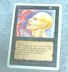 MAGIC The Gathering, SENGIR VAMPIRE, Summon Vampire Card, Single Card, white border, Unlimited, Played, Vg.-Vg.+ by brotoys1 on Etsy