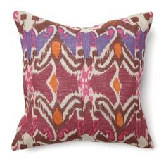 I found a similar pillow to start the theme... but a mix of purples and gray (no orange)