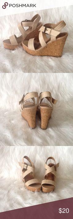 Fabulous cork wedge summer sandals Fabulous cork wedge sandalsSpring and Summer readyworn about 3 timesgreat condition Shoes