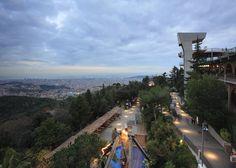 Barcelona's Tibidabo -- the theme park overlooking the city!