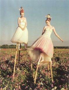 ...everyone walked on stilts [tim walker]