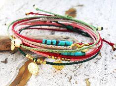 Wish bracelet Friendship bracelet Red string by Beadstheater