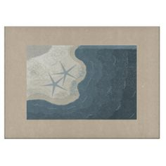 Ocean and Starfish Tempered Glass Cutting Board #ocean #beach #cuttingboards