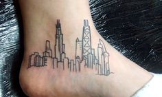 totally had this idea before i saw this. mine would go down the foot more and be more of a line drawing of the chicago skyline