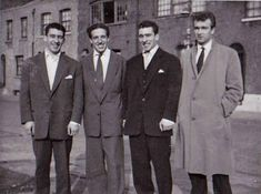 The Kray twins (left and midde right) with Dickie Morgan (left middle) and Laurie O'Leary in Bethnal Green Picture: Barcroft Media East End London, Old London, The Krays, Urban Tribes, Twin Photos, Green Pictures, Bethnal Green, London History, Pose For The Camera