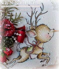 Wild Rose Studio's - Flying Reindeer