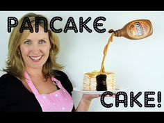 Pancake Illusion Cake with Suspended Syrup Bottle - a Cupcake Addiction How To Tutorial - YouTube