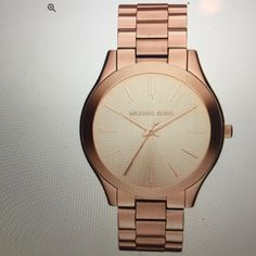 ROSE GOLD MK WATCH perfect condition Women's Runway Rose Gold-Tone Stainless Steel Watch *fits smaller wrist* WITH ORIGINAL BOX (charging $170 for it but $5 for mailing insurance is added in, it's worth it just incase!) Michael Kors Accessories Watches