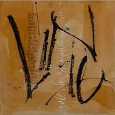 Kalligrafie . Birgit Nass - LEINWAND