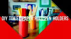 DIY TOILET PAPER ROLL PEN HOLDERS (Guys DIY EP: 1) - YouTube