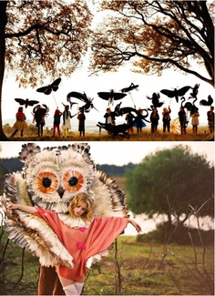I've forgotten the name of this fashion photographer but he's great, lots of fairy tale images.  giant shadow puppets.