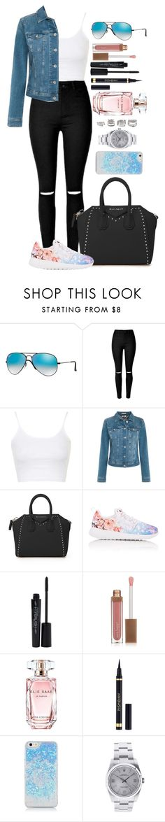 """Untitled #1442"" by fabianarveloc on Polyvore featuring Ray-Ban, Topshop, Tommy Hilfiger, Givenchy, NIKE, Smashbox, Sara Happ, Elie Saab, Yves Saint Laurent and Rolex"