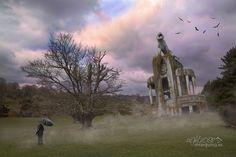 Velando el bosque de Iñaki Marquina, surrealismo, foto manipulación