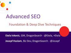 dragon search presents to webgrrls NYC advanced workshop by Josepf Haslam via Slideshare Social Marketing, Digital Marketing, Foundation, Seo Training, Learning Objectives, Deep, Search Engine Optimization, Workshop, Nyc