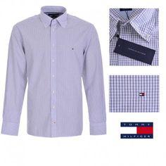 37b90e742 Camisa de cuadros para hombre de Tommy Hilfiger en color azul y blanco.  Ajuste  Custom Fit. Composición   100% Algodón. Entrega en 24 48 horas.
