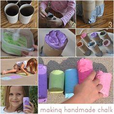 DIY Handmade Sidewalk Chalk