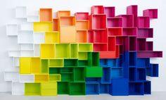 Modulares Regalsystem Cubit: In Farbe. Und bunt. - ArchiExpo
