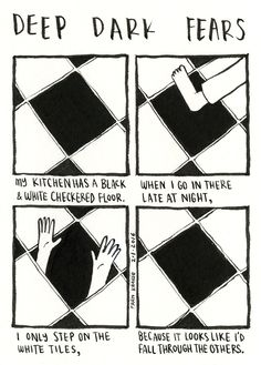 deep-dark-fears: An anonymous fear submitted to Deep Dark Fears - thanks!The new Deep Dark Fears book is available now, with fifty unpublished comics and fifty favorites! You can find it at Amazon, B&N, IndieBound, iBooks, Google Books, your local bookstore, and wherever books are sold! For those of you outside the US, bookdepository.com is offering free worldwide shipping!