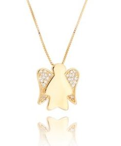 colar anjinho dourado semi joia fina