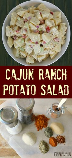 This Cajun Ranch Potato Salad Recipe is a delicious twist on traditional potato salad recipes. The flavor of the Cajun seasoning  is sure to leave your family and friends asking for seconds! You will want to add this to your rotation of dinner recipes! This is the perfect side dish for your next BBQ meal or potluck dinner.